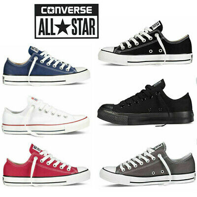Converse Mens Womens Unisex All Star Chuck Taylor Low Tops Trainers Pumps Shoes