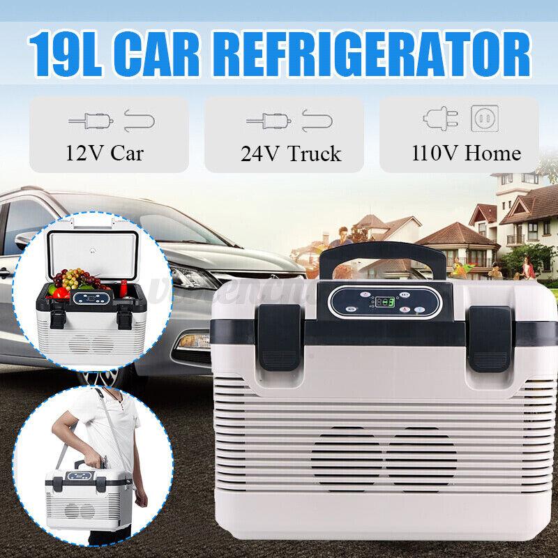 20 Quarts Portable Car Freezer Fridge Cooler Outdoor Camping Refrigerato 12/110V