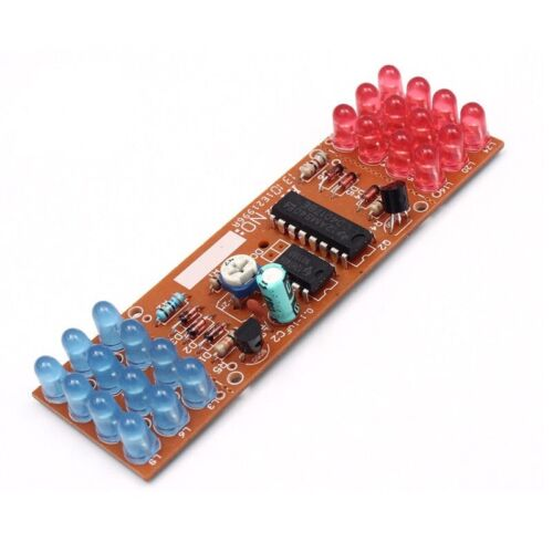 red blue double color flashing lights diy