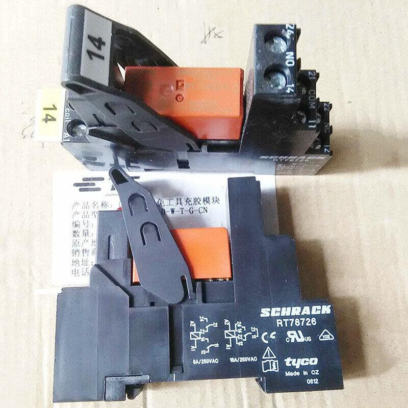 5PCS SCHRACK RT314024 24VDC Power Relay with RT78726 Socket 8A 250VAC