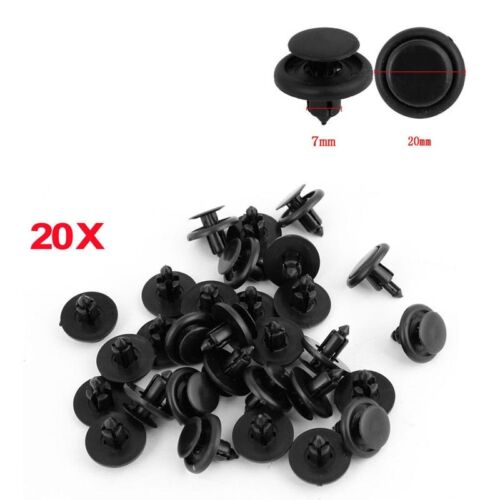 20pcs Car 7mm Clip Fastener Bumper Hood Fender Splash Guard Retainer For Toyota
