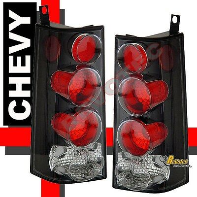 96-02 GMC Savana Chevy Express Van Black Tail Lights Lamps 1 Pair 01 02 Chevy Express Van