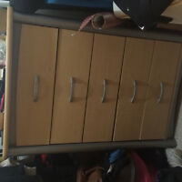 6 drawer dresser and night stand