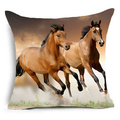 US SELLER- Two Brown Running Horses 17