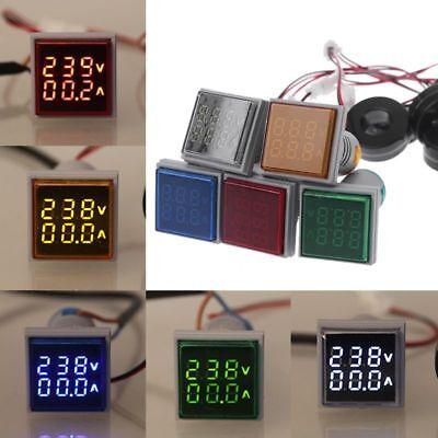 Led Digital Dual Display Voltmeter Ammeter Voltage Gauge Meter Ac 60-500v 0-100a