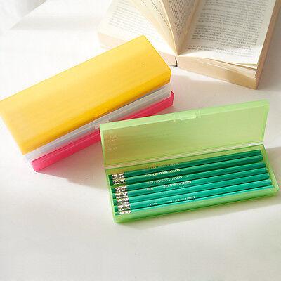 Multicolor Polypropylene Plastic PP Pencil Pen Case Box Good Simple Designed - Multicolor Pencil