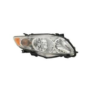 2009-2010 Toyota Corolla Sedan Passenger Side Head Light Assembly - Value Line ®
