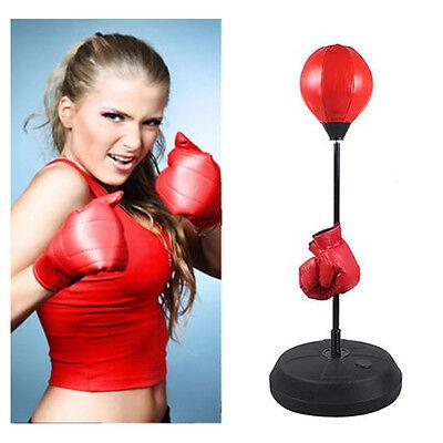 Boxen Set Punchingball Standboxsack Standbox Handschuhen Punching-Training NEU