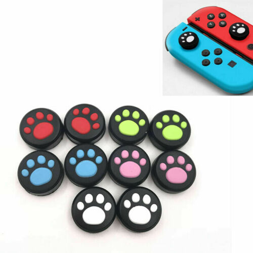 2x Thumb Stick Grip Joystick Cap Cover Analog for Nintendo Switch Joycon Cat Paw