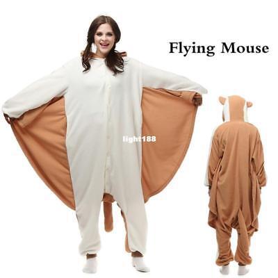 Flying Squirrel Cosplay Costume Sleepwear Unisex Adult Pajamas Animal Kigurumi   (Flying Squirrel Costume)