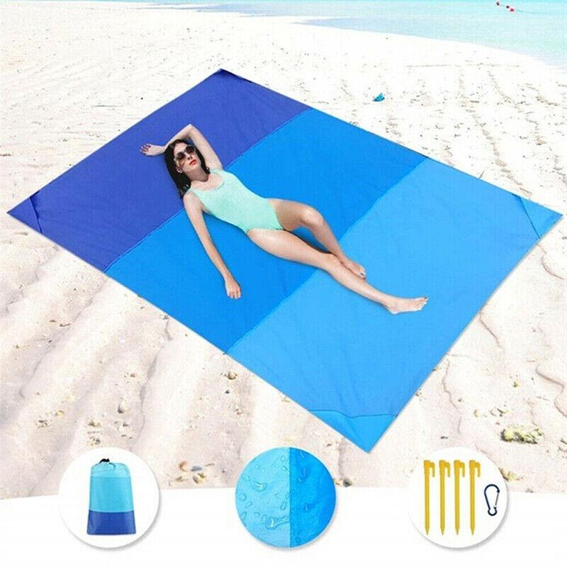 Camping Picnic Blanket Sand Free Beach Mat Waterproof  Outdo