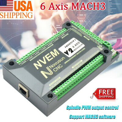 6axis Cnc 200khz Ethernet Mach3 Card Breakout Board Motor Motion Controller Nvem