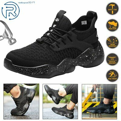 Mens Steel Toe Safety Work Shoes Casual Boots Hiking Climbing Sport Sneakers Us
