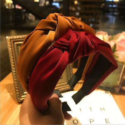 Fashion Women's Cute Hair Band Twist Band Top Knot Plain Headband Lady Head Wear
