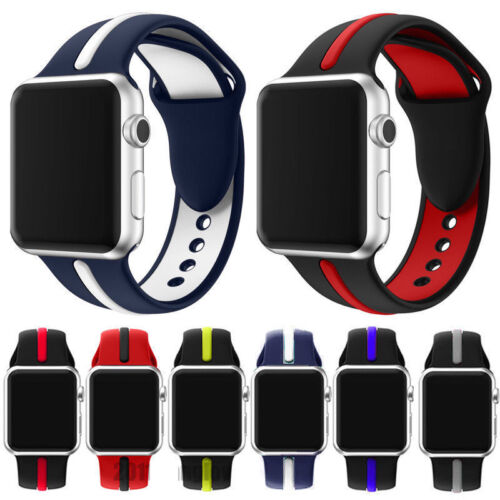 Silicone Wrist Strap Band Bracelet Replacement For Apple Watch iWatch 3/2/1