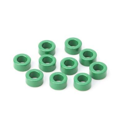 10pcs Inductor Coils Green Toroid Ferrite Cores Anti-interference Filter Rings
