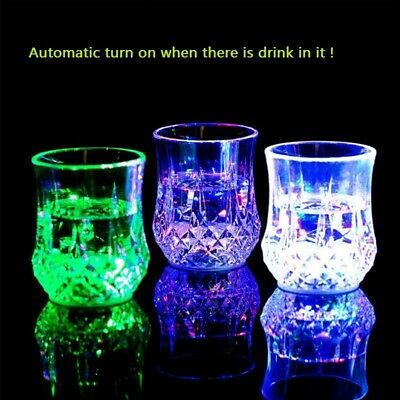 Inductive Colorful LED Wine Whisky Cup Flash Light Beer Drink Glass Bar Party  (Flashing Wine Glass)