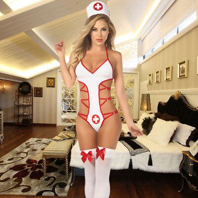Lingerie Schlafzimmer Krankenschwester Kostüm Krankenschwester Outfit Teddy - Schlafzimmer Kostüm