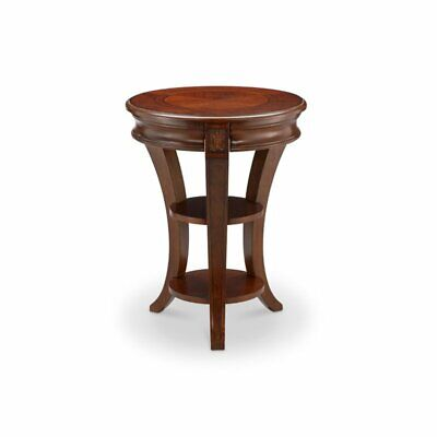 Magnussen Winslet Round Accent End Table in Cherry