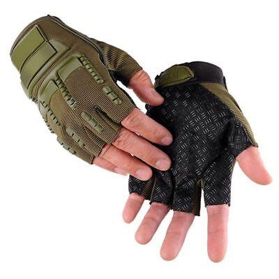 Männer Handschuhe Gloves Sport Tactical Outdoor Geschenk Halbfinger Fingerlos