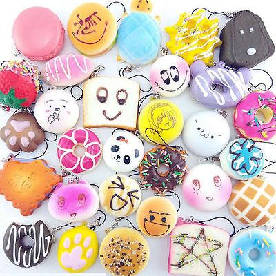 20PCS/lot Random Squishy Jumbo Mini Panda Cone Donuts Toast Turtle Cartoon Gifts