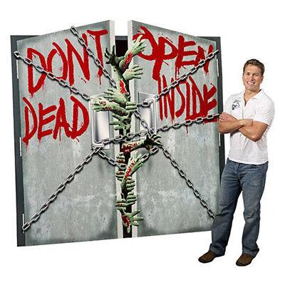 Halloween Open Door (DON'T OPEN DEAD INSIDE Lifesize CARDBOARD CUTOUT Standee Standup Zombies)