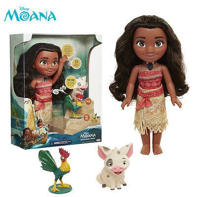 Disney Singing Moana Heihei Pua Action Figures Doll Talking Movie Song Kids Toy