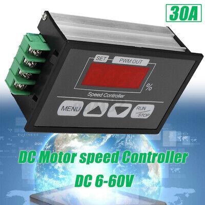 Adjustable Dc Motor Speed Governor Dc 6-60v Pwm Module Digital Controller Switch
