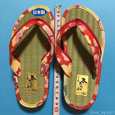 F/S Japanese Tatami Straw mat Zori Sandals Cute Kawaii for girl 19cm from Japan