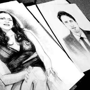portrait art and alive caricature for events