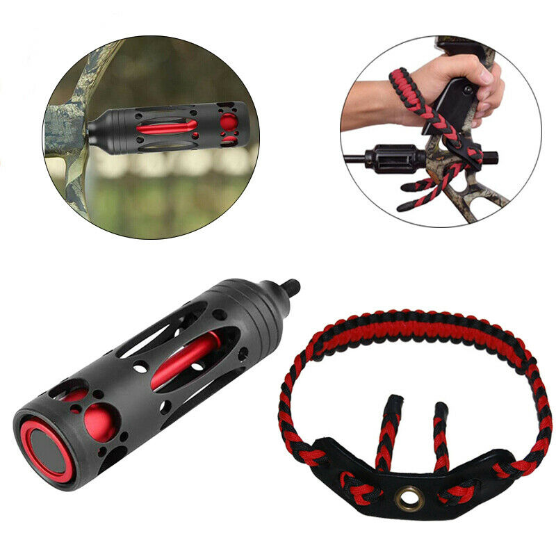 Archery Stabilizer Wrist Sling Set For Compound Bow Vibration Damping Hunting