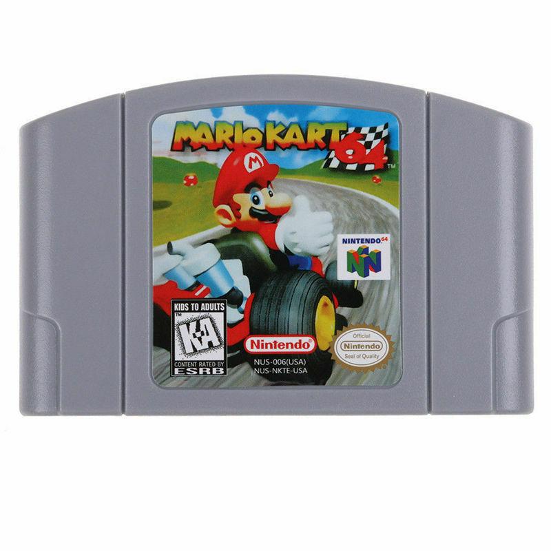 Video Game Cartridge Console Card For Nintendo N64 Mario Kart 64 US Version USA