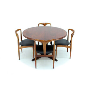 Round Extendable Rosewood Dining Table