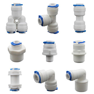 Push-fit Pipe Fittings (5PCS Push Fit Pipe Tube Fittings Elbow Tee Y-shape Connector For Water Aquarium)