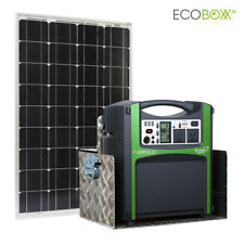 Off Grid Solar 1.5kW Kit Ecoboxx 1500 with 105Ah AGM Battery & 250W Solar Panel