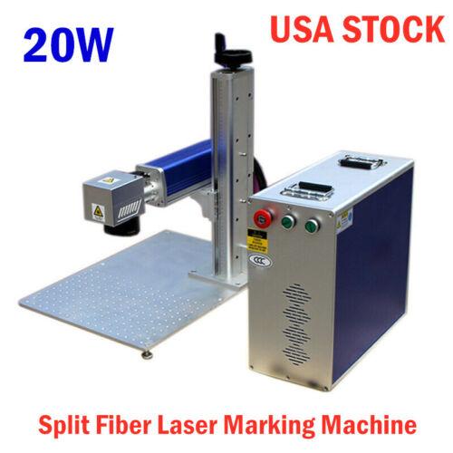 20W Split Fiber Laser Marking Engraver Engraving Machine US STOCK
