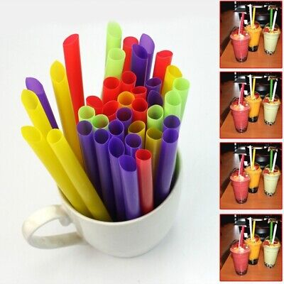 100× Giant Jumbo Big Drinking Straws For Bubble Pearls Tea Party Drink Sm FVK - Big Straws