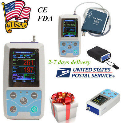 Fda Ambulatory Blood Pressure Patient Monitor 24h Nibp Holter Abpm50 Adult Cuff