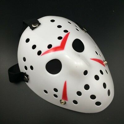 Jason Voorhees Scary Mask prop hockey Halloween Creepy MASK #LAC (Scary Hockey Mask)