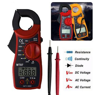 Digital Lcd Clamp Meter Multimeter Ac Dc Voltmeter Volt Ohm Amp Tester