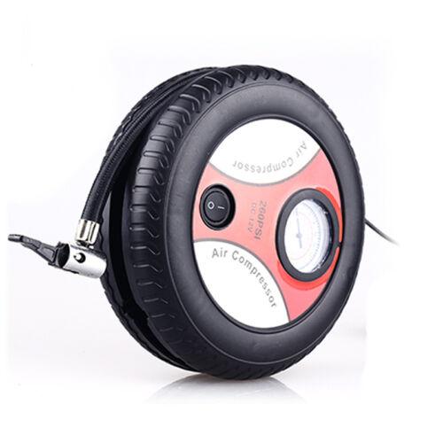 12v 156w Mini Car Tyre Air Compressor Automatic Inflator Pump Van Bike Cycle