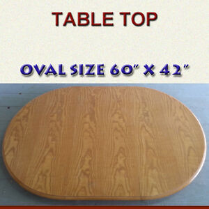 LARGE SOLID OAK TABLE TOP - FLEXIBLE DIMENSIONS