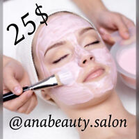 April promotion. One hour facial only 25$!!!