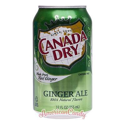 24x 355ml CANADA Seco Jengibre Ale EE.UU. importado bebida suave ( 4,46€/ Litro)