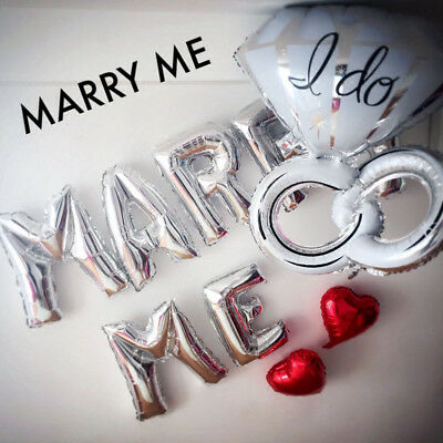 MARRY ME Letter Balloons with
