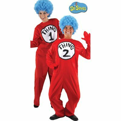 Thing 1 Costumes (Dr. Seuss Thing 1 & 2 Deluxe Adult Costume -)