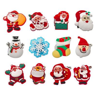 Christmas Flashing Brooch Pins LED Glowing Brooches Xmas Party Decor Props