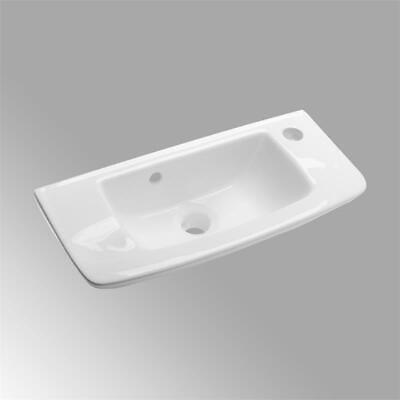 Edgewood 20 In. Wall Mounted Bathroom Sink In White With Overflow - $135.99
