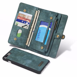 Samsung Galaxy S7 Edge Leather Case / Wallet - Grey