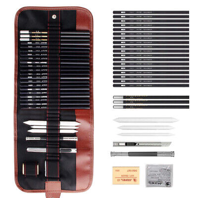 Art Pencil Set (29 PCS Sketch Pencil Set Charcoal Extender Eraser Knife Drawing Suit Art Kit)